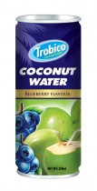 14 Trobico Coconut water Blueberry alu can 250ml