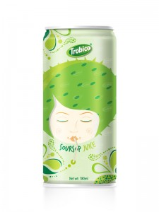 180ml Aluminum  can Natural Soursop Fruit Juice Drink