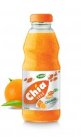 250ml Chia Seed Orange Flavour Glass bottle