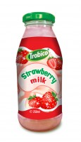 250ml Strawberry milk Glass bot
