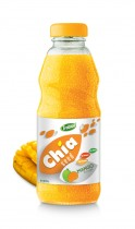 250ml Glass bottle Good Healthy mango Flavor Chia Seed