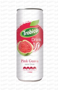 250ml alu can Natural Pink Guava Juice Drink
