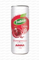 250ml alu can Natural Pomegranate Juice Drink