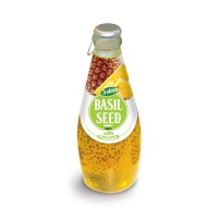 290ml Glass bottle Basil Seed with Pineapple Juice Flavor