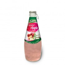 290ml Glass bottle High Quality Rose Apple Juice with Aloe Vera Pulp