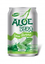 330ml Aloe vera low Sugur Alu can