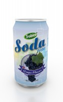 330ml grape flavor soda water