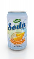 330ml orange flavor soda water