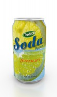 330ml soda water lemon flavor