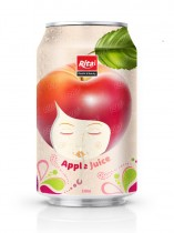 330ml Canned Fresh Apple Fruit Drink