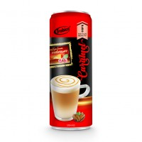 330ml Premium Quality Caramel Coffee Drink in can by Trobico Beverage Vietnam