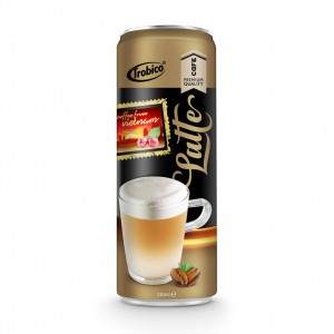 330ml Premium Quality Latte Coffee Drink in can by Trobico Beverage Vietnam