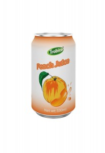 330ml alu can Peach Juice Drink