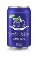 330ml aluminum can 100 pure bluebery juice