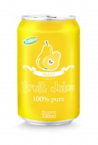 330ml aluminum can 100 pure pear juice