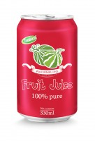 330ml aluminum can 100 pure watermelon juice