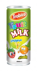 536 Trobico fruit milk for children alu can 250ml