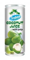 573 Trobico Coconut juice with pulp alu can 250ml