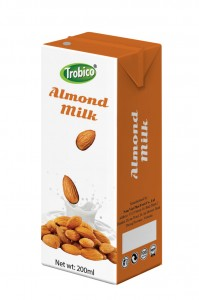 Almond milk 200ml in tetra pak