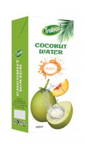 Coconut water with peach flavor 1000ml