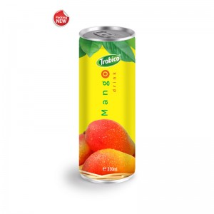 Private Label Fruit Juice 330ml ALuminum can 100 Natural Mango Fruit Drink
