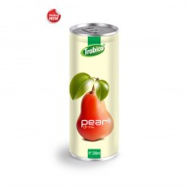 Private Label Fruit Juice 330ml ALuminum can 100 Natural Pear Fruit Drink