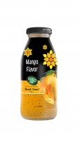 basil seed with mango  flavor 250ml glass bottle