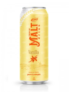 malt drink with vanilla flavor 500ml