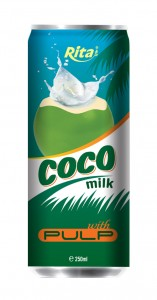 250ml OEM Coconut Milk with Pulp