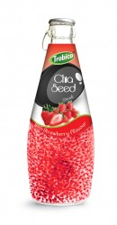 290ml chia seed drink with Strawberry Flavour
