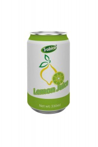 330ml alu can Lemon Juice Drink