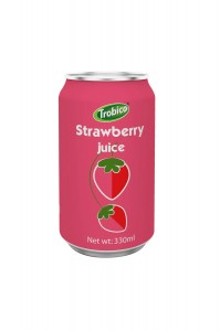 330ml alu can Strawberry Juice Drink
