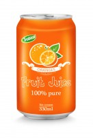 330ml aluminum can 100 pure orange juice
