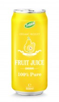 500ml aluminum can 100 pure pear juice