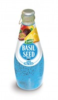 554 Trobico Basil seed with mix fruit glass bottle 290ml