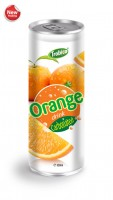 668 Trobico Carbonated Orange drink alu can 330ml