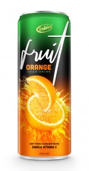 OEM Private Label Fruit Juice 330ml Orange Juice Drink