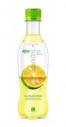 Sparkling Calamansi Juice Drink 400ml Pet Bottle